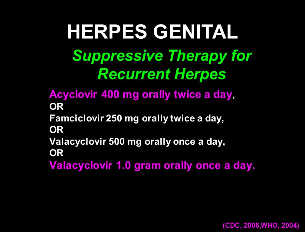 Suppressive Therapy for Recurrent Herpes