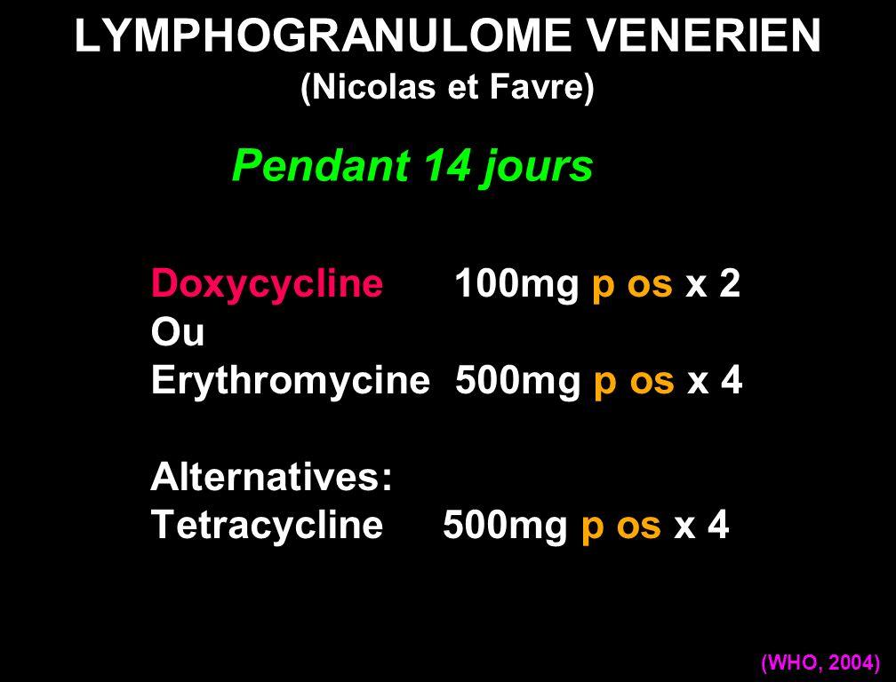 LYMPHOGRANULOME VENERIEN