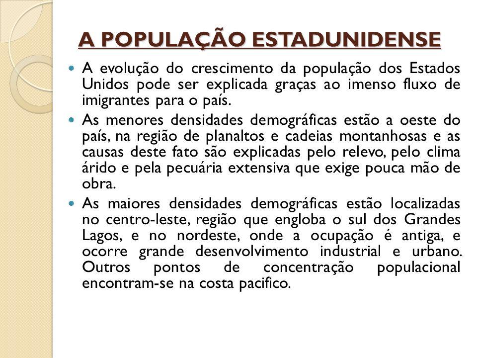 A POPULAÇÃO ESTADUNIDENSE