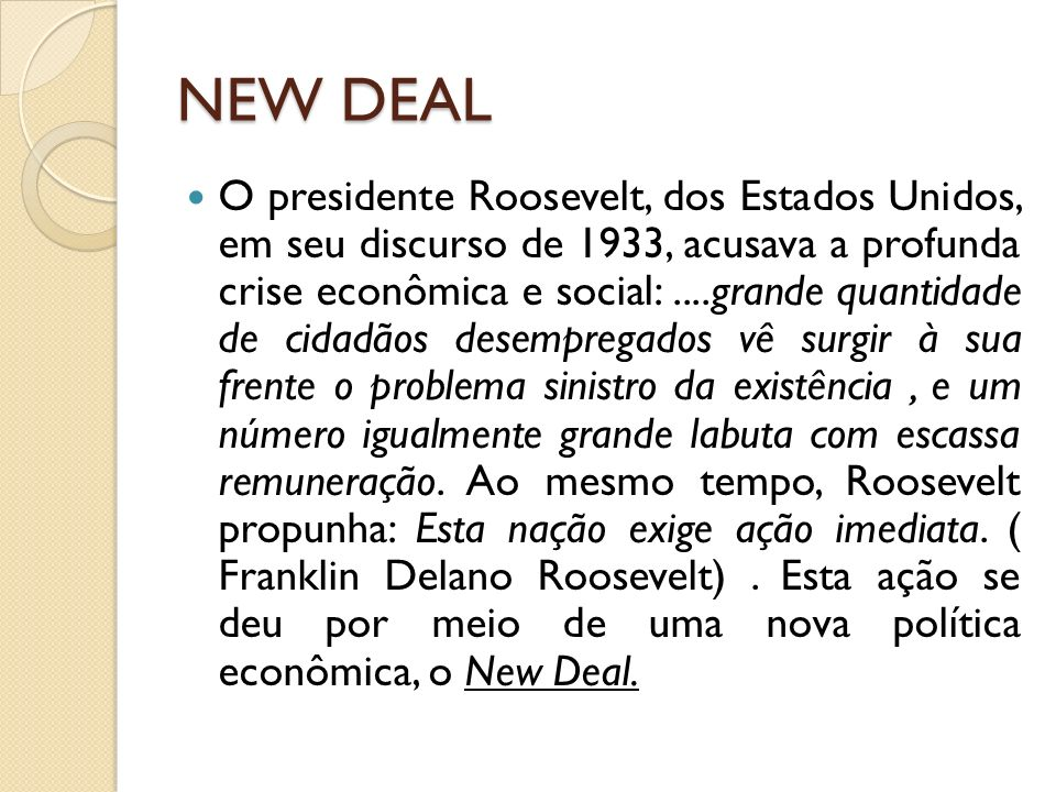 NEW DEAL
