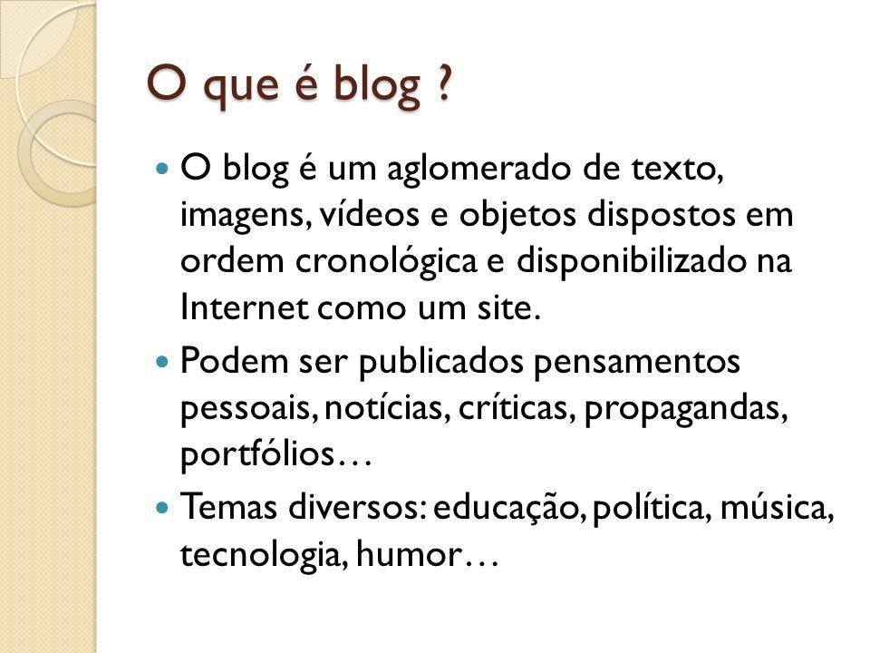 O que é blog