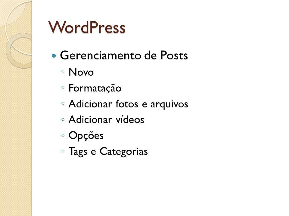 WordPress Gerenciamento de Posts Novo Formatação