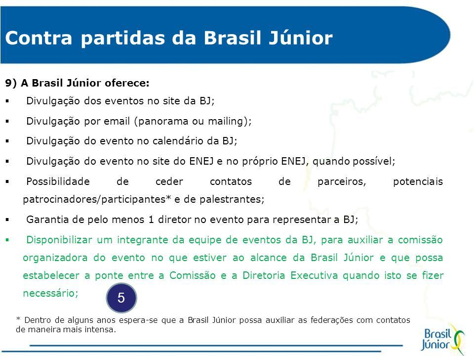 Contra partidas da Brasil Júnior