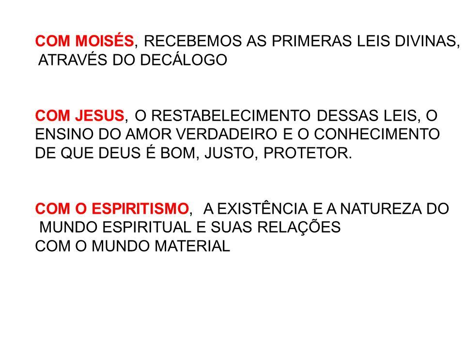 COM MOISÉS, RECEBEMOS AS PRIMERAS LEIS DIVINAS,