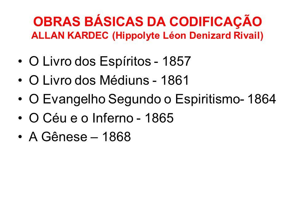 OBRAS BÁSICAS DA CODIFICAÇÃO ALLAN KARDEC (Hippolyte Léon Denizard Rivail)