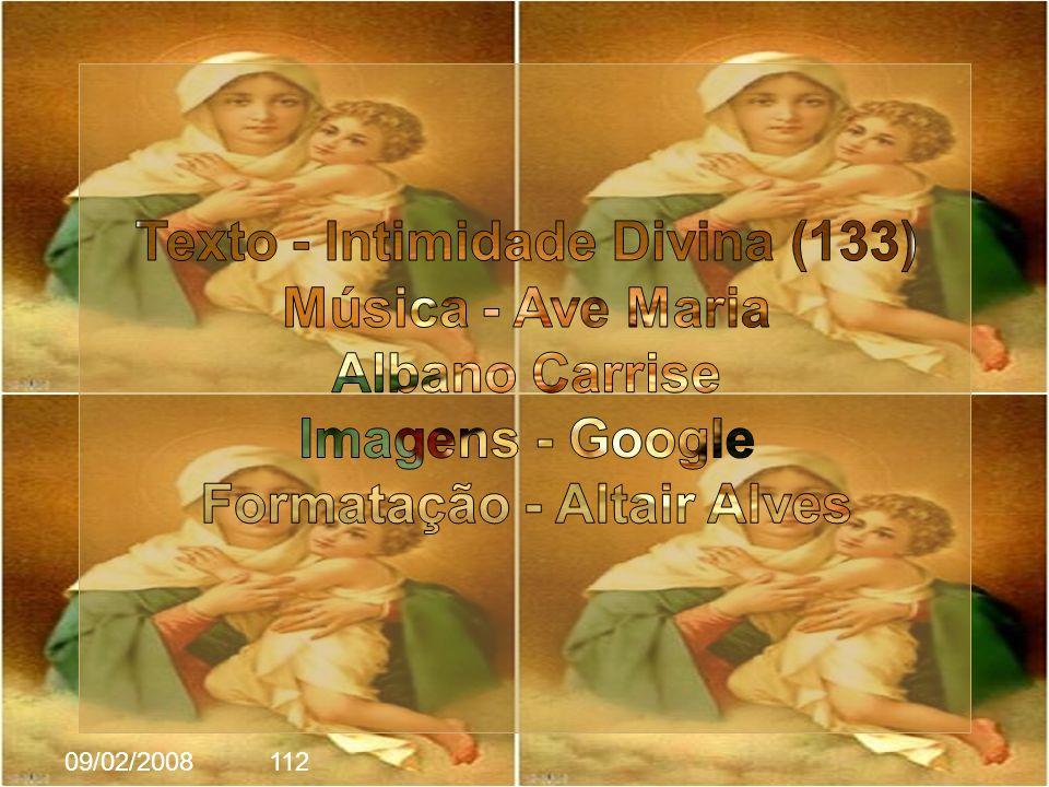 Texto - Intimidade Divina (133) Formatação - Altair Alves