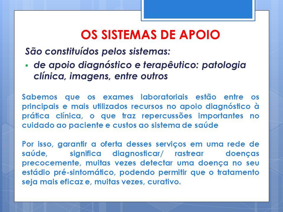 OS SISTEMAS DE APOIO São constituídos pelos sistemas: