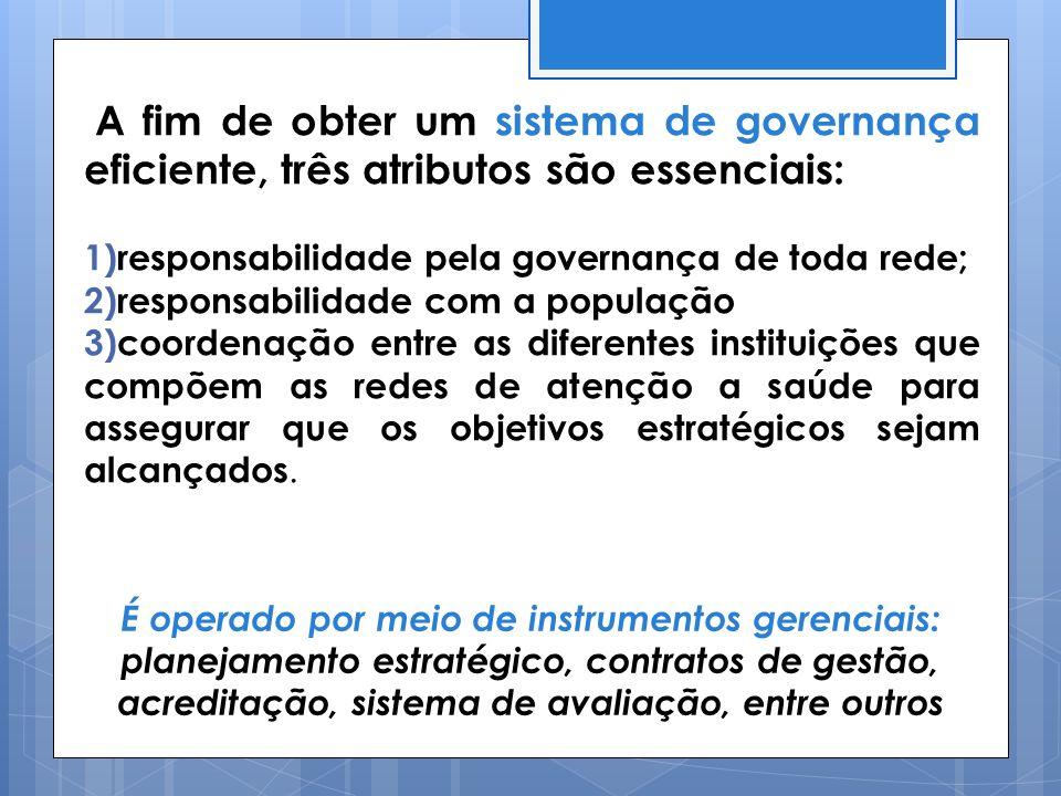 A fim de obter um sistema de governança eficiente, três atributos são essenciais: