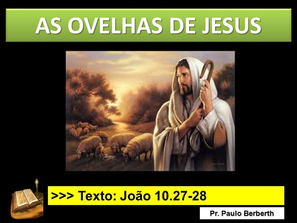 AS OVELHAS DE JESUS >>> Texto: João 10.27-28