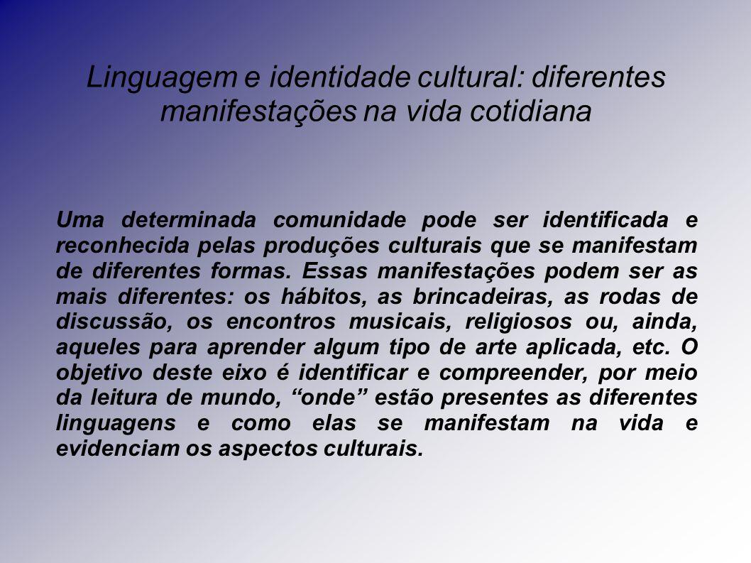 Linguagem e identidade cultural: diferentes manifestações na vida cotidiana