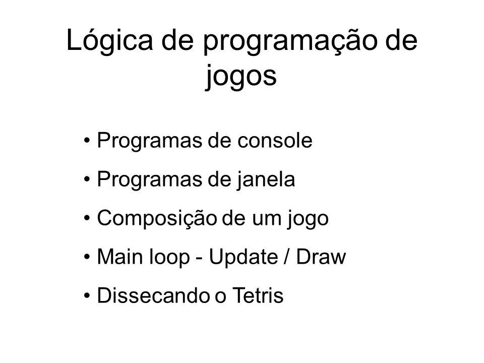 Lógica de programação de jogos
