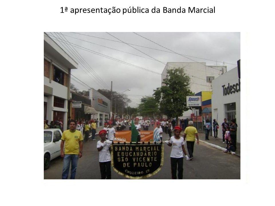 1ª apresentação pública da Banda Marcial