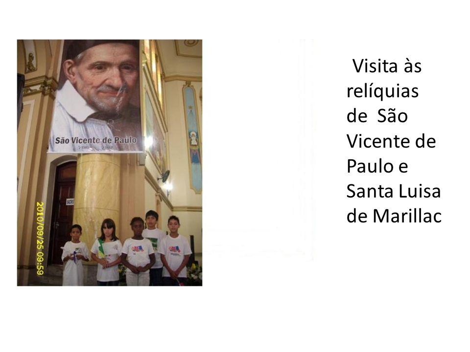 Visita às relíquias de São Vicente de Paulo e Santa Luisa de Marillac