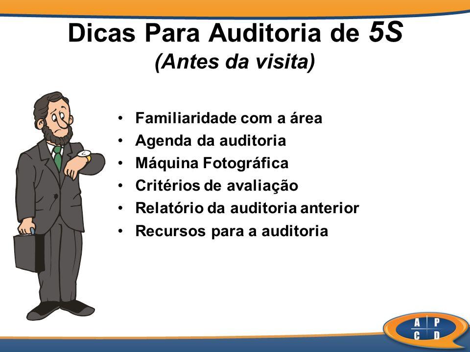 Dicas Para Auditoria de 5S (Antes da visita)