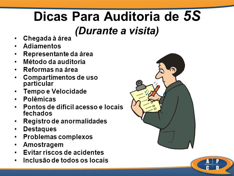 Dicas Para Auditoria de 5S (Durante a visita)