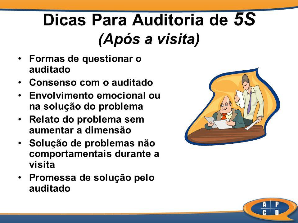 Dicas Para Auditoria de 5S (Após a visita)