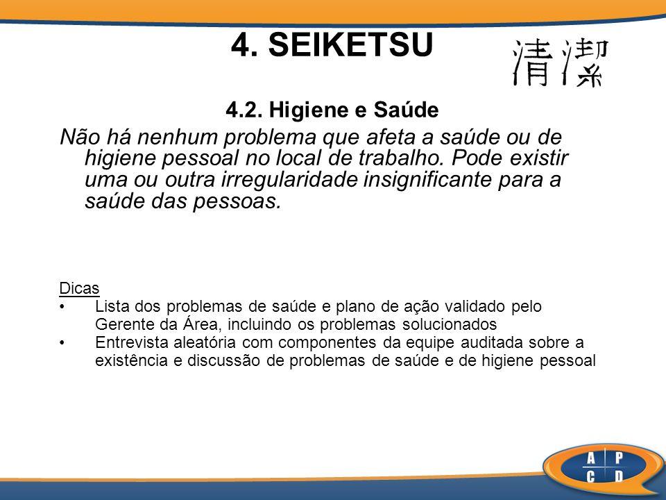 4. SEIKETSU 4.2. Higiene e Saúde