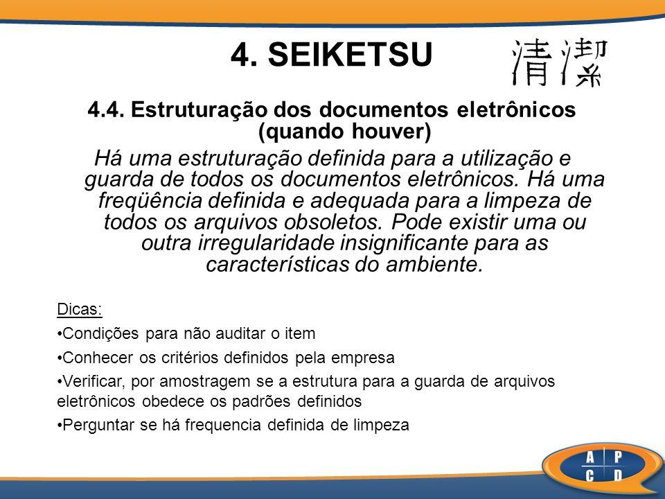 4.4. Estruturação dos documentos eletrônicos (quando houver)