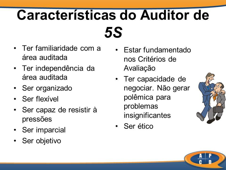Características do Auditor de 5S