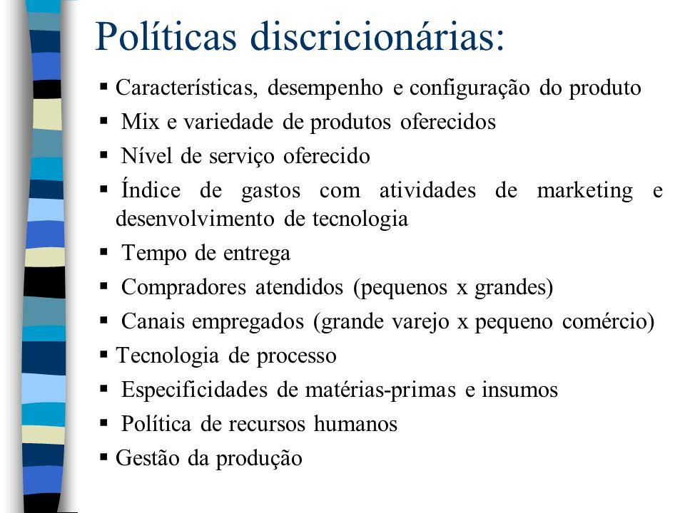 Políticas discricionárias: