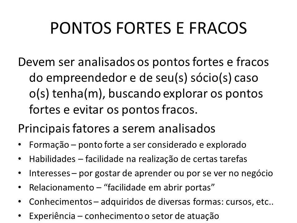 PONTOS FORTES E FRACOS
