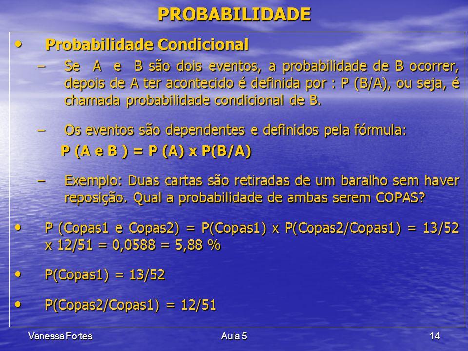 PROBABILIDADE Probabilidade Condicional