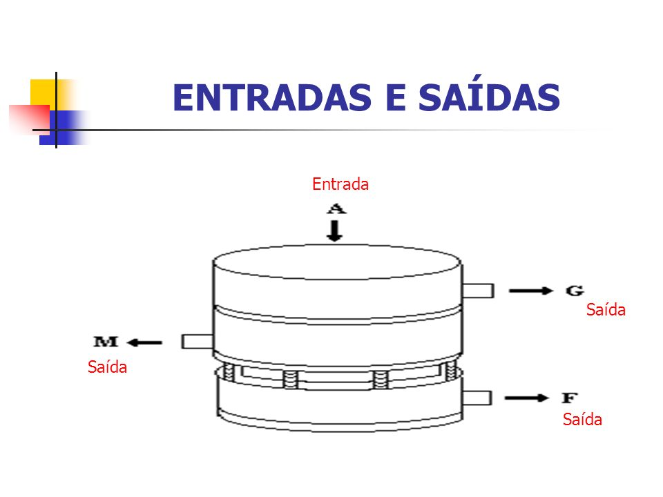 ENTRADAS E SAÍDAS Entrada Saída Saída Saída