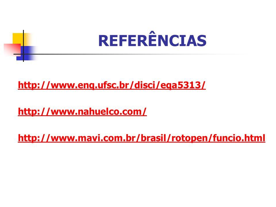 REFERÊNCIAS http://www.enq.ufsc.br/disci/eqa5313/