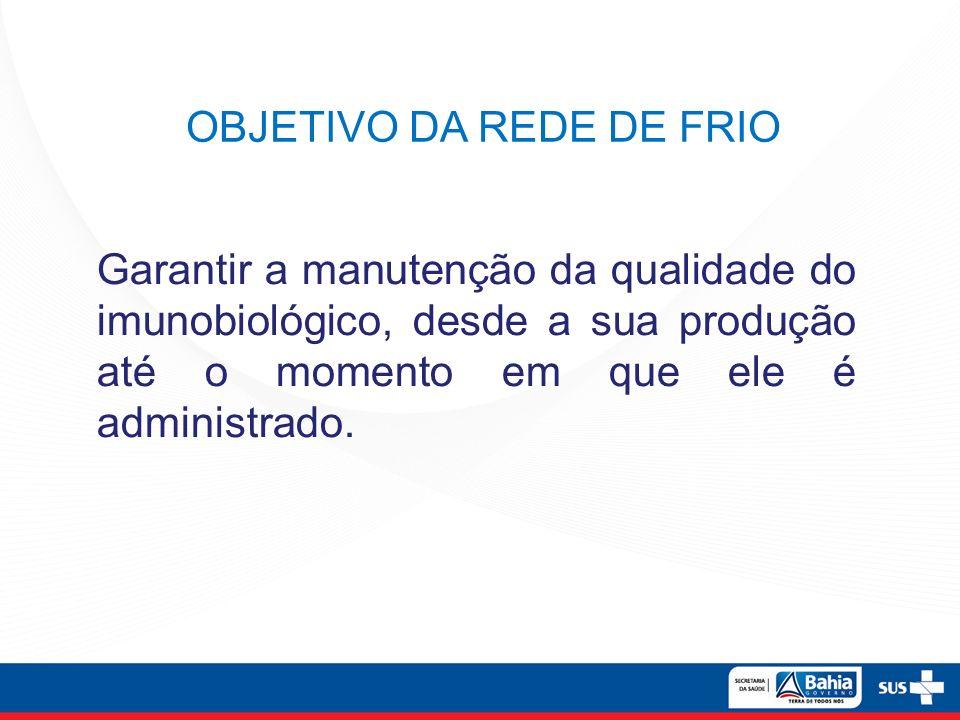 OBJETIVO DA REDE DE FRIO