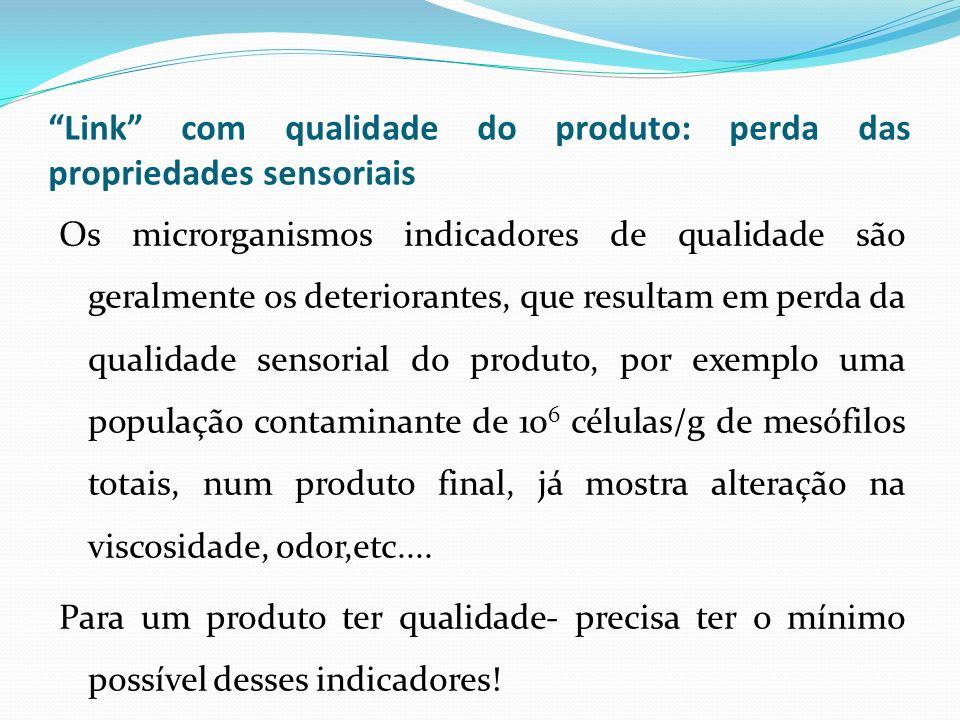 Link com qualidade do produto: perda das propriedades sensoriais