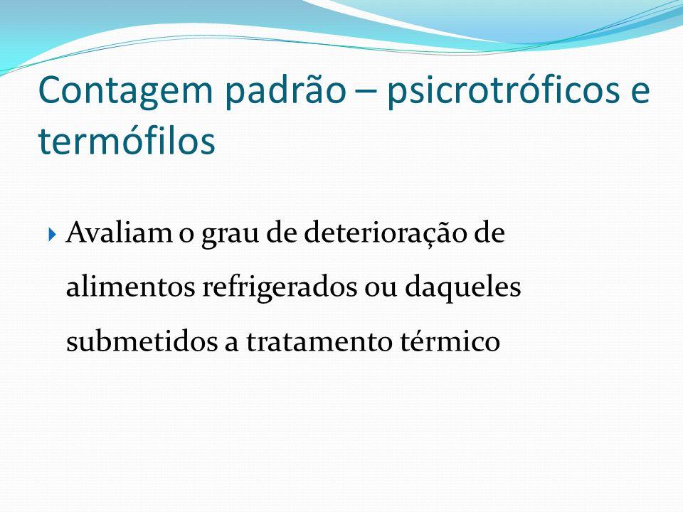 Contagem padrão – psicrotróficos e termófilos