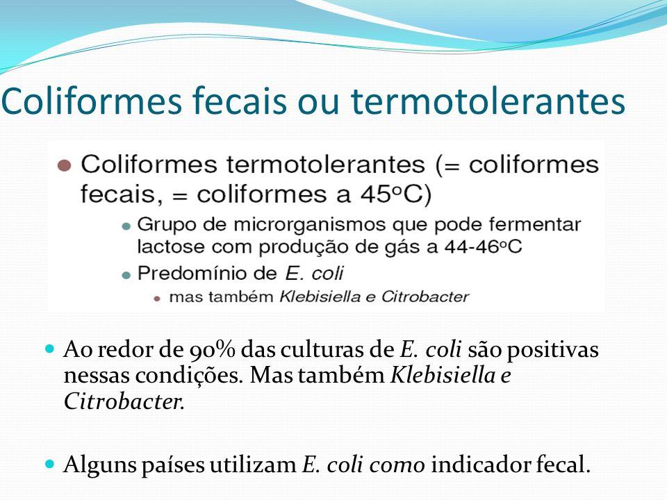 Coliformes fecais ou termotolerantes