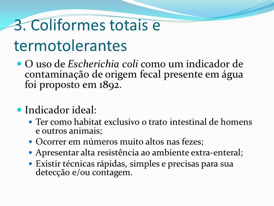 3. Coliformes totais e termotolerantes