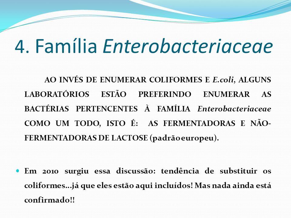 4. Família Enterobacteriaceae
