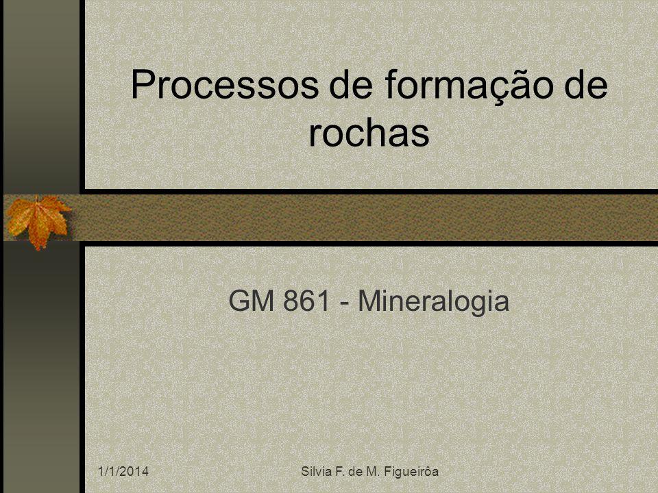 Processos de formação de rochas