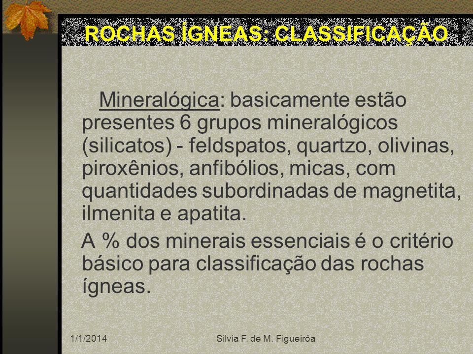 ROCHAS ÍGNEAS: CLASSIFICAÇÃO