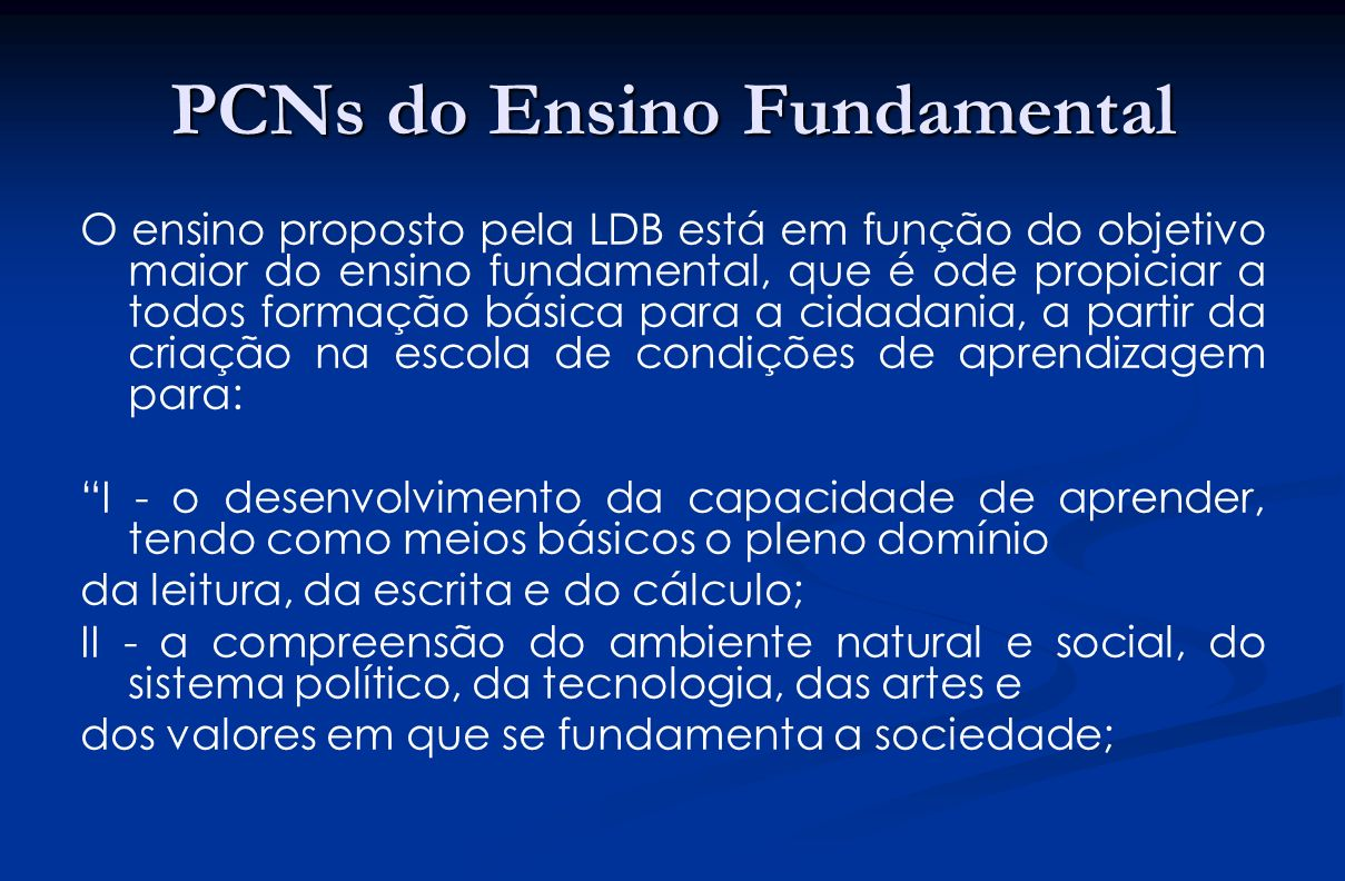 PCNs do Ensino Fundamental