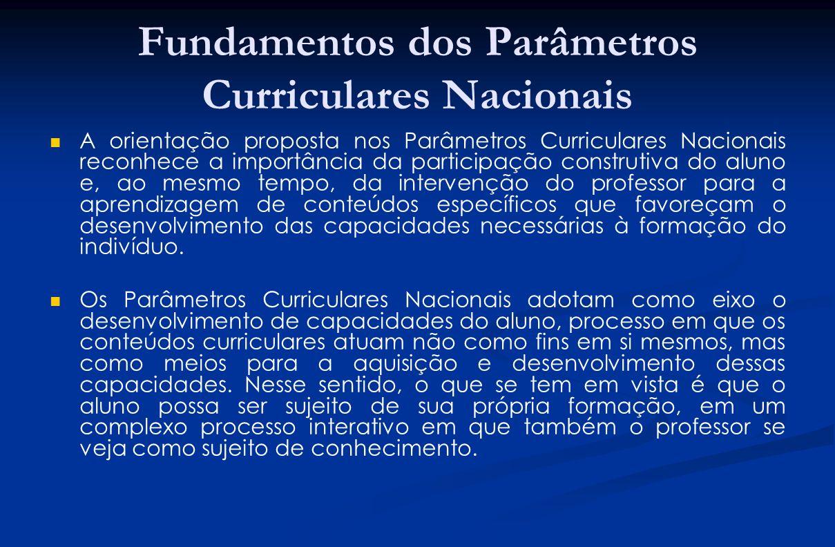 Fundamentos dos Parâmetros Curriculares Nacionais