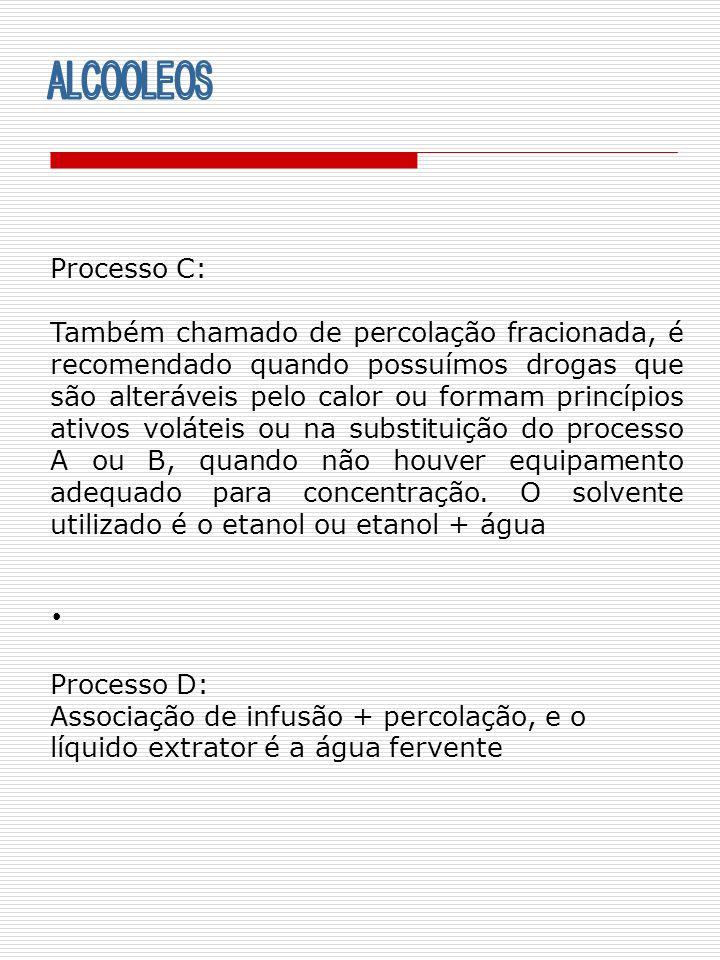ALCOOLEOS Processo C:
