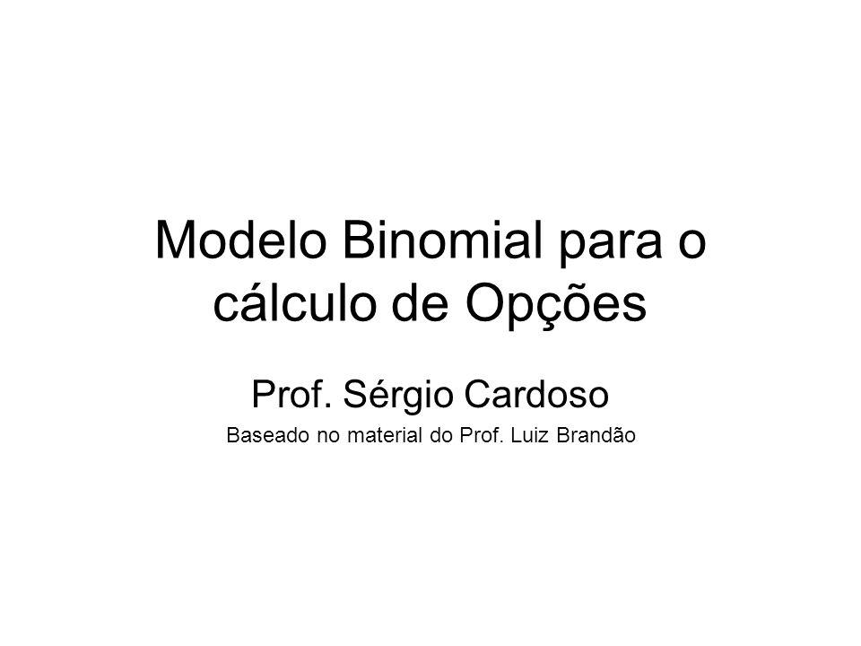 Modelo Binomial para o cálculo de Opções