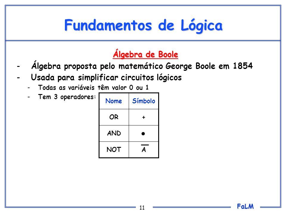 Fundamentos de Lógica Álgebra de Boole