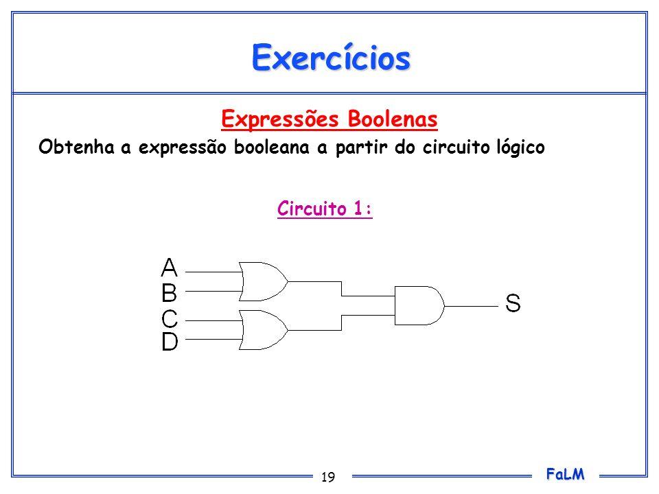 Exercícios Expressões Boolenas