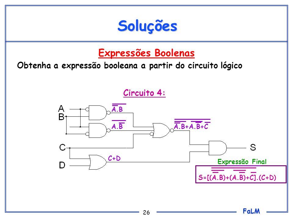Soluções Expressões Boolenas