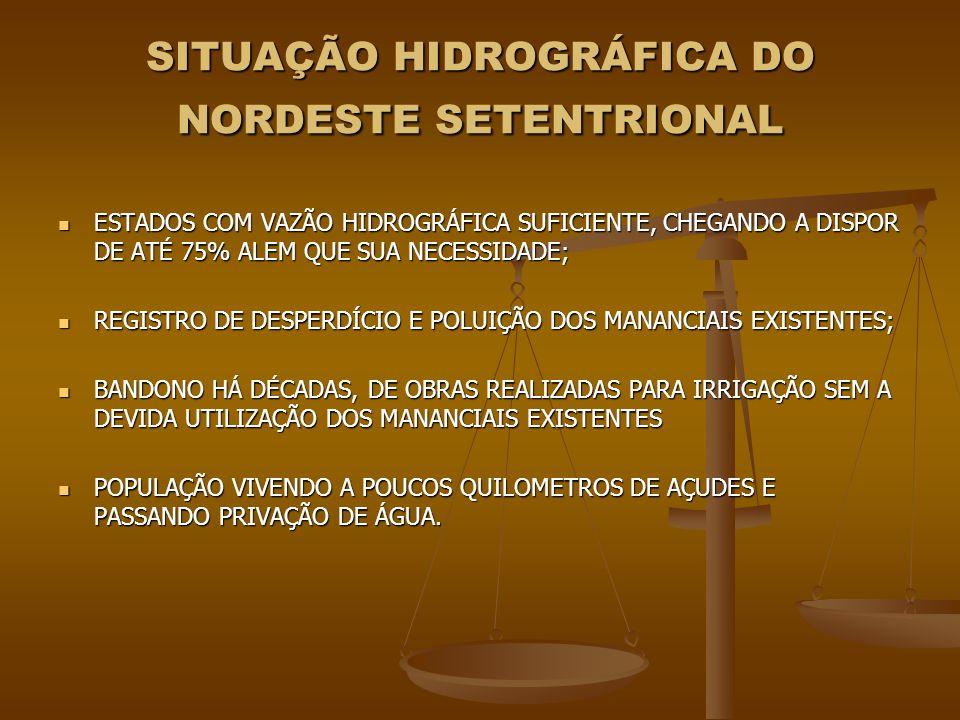 SITUAÇÃO HIDROGRÁFICA DO NORDESTE SETENTRIONAL