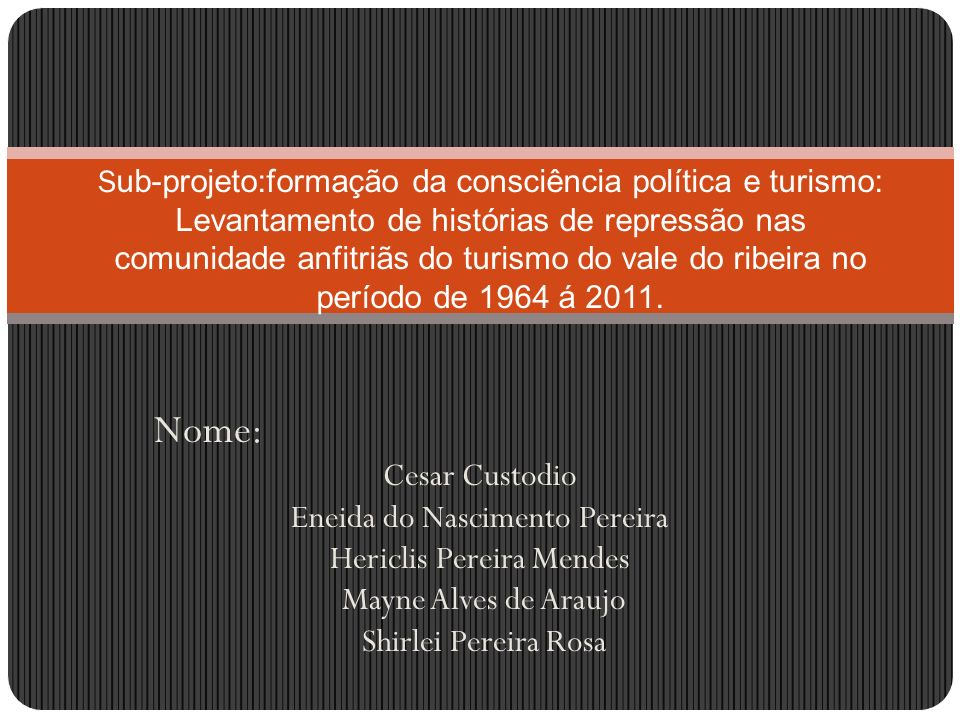 Nome: Cesar Custodio Eneida do Nascimento Pereira