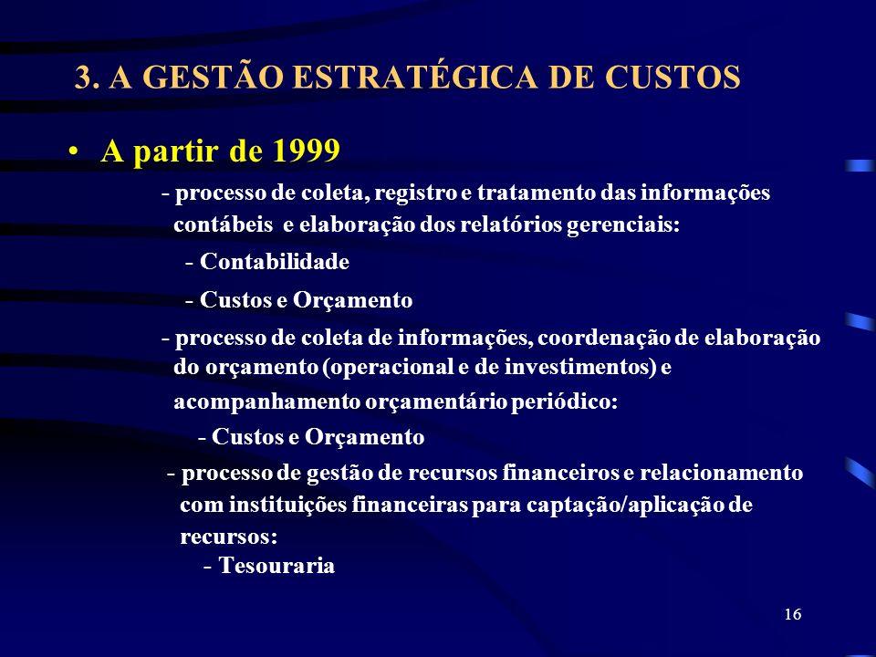 3. A GESTÃO ESTRATÉGICA DE CUSTOS