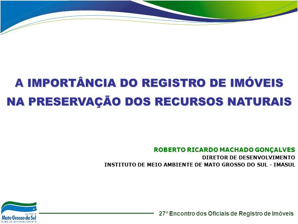 A IMPORTÂNCIA DO REGISTRO DE IMÓVEIS