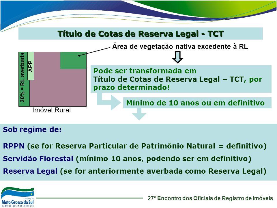 Título de Cotas de Reserva Legal - TCT