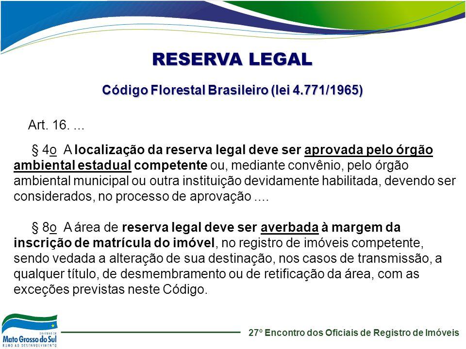 Código Florestal Brasileiro (lei 4.771/1965)