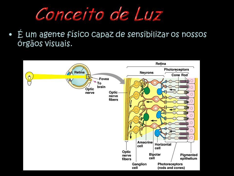 É um agente físico capaz de sensibilizar os nossos órgãos visuais.